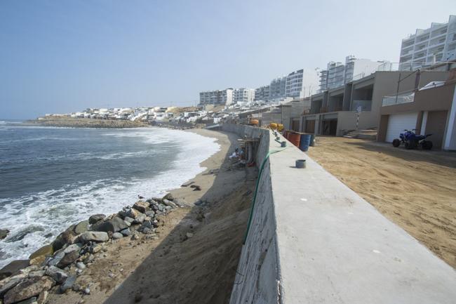 Con respecto a las obras que se están haciendo en la playa Caballeros (ex Señoritas) y la erosión que se viene generando.