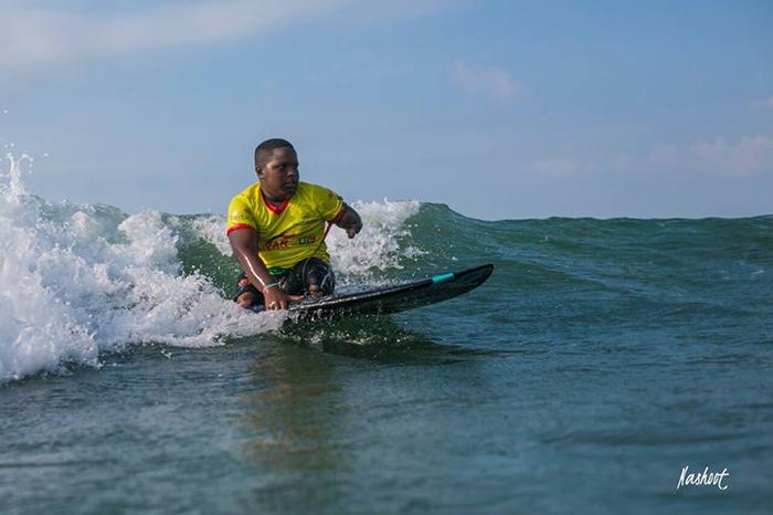 Freddy Marimón, una de las estrellas sudamericanas del surf adaptado