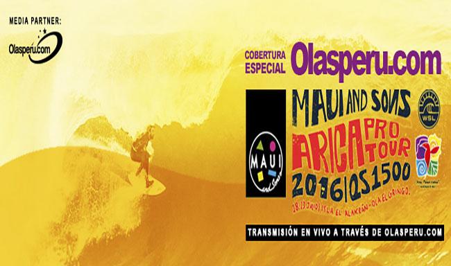 Cobertura Especial de Olasperu.com en el Maui & Sons Arica 2016
