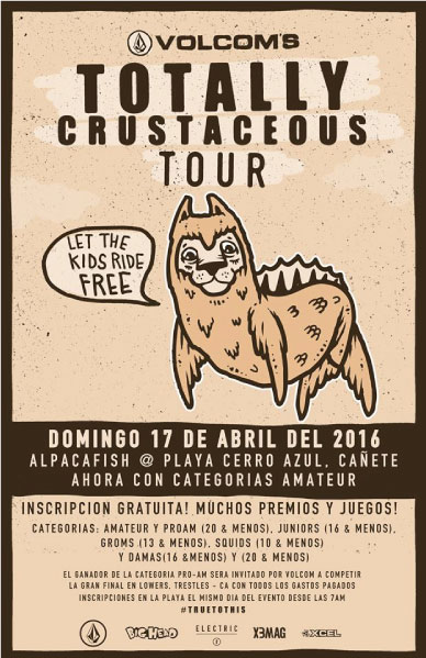 Volcom presenta Totally Crustaceous Tour  Perú 2016
