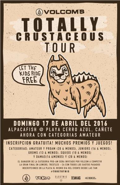 Volcom presenta Totally Crustaceous Tour  Perú 2016