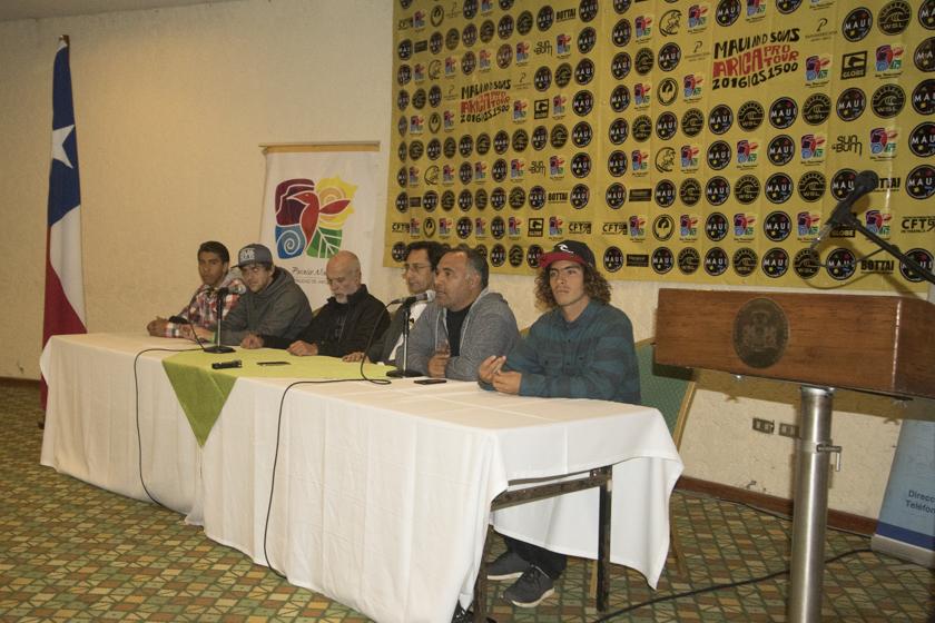 Conferencia de Prensa Maui and Sons Arica Pro 2016