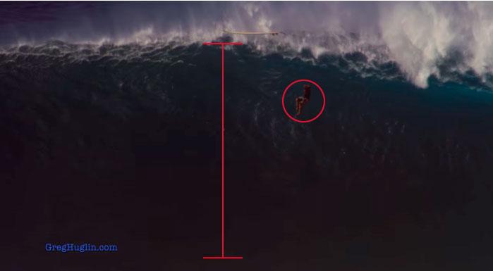 Toda la expresión de las monstruosas olas de Peahi