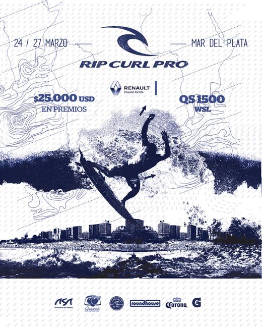 Rip Curl Pro Argentina abre el calendario 2016 de la WSL Sudamérica