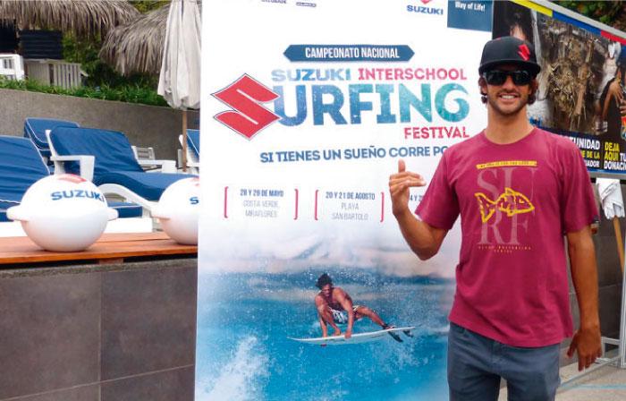 Este 28 de mayo Álvaro Malpartida dará inicio al primer circuito inter escolar de Surf