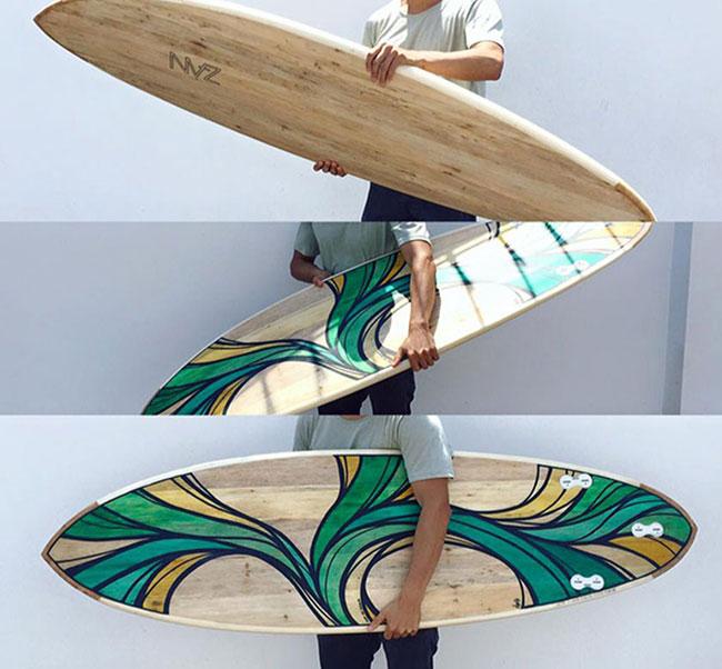 Surf y Arte: Oso de Agua pintando olas parte 2