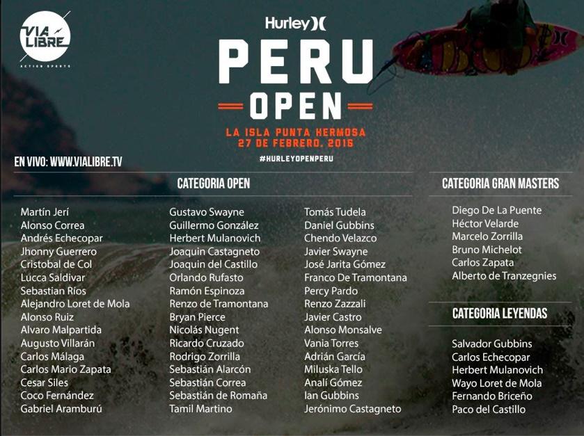 Perú Open of Surf por primera vez en nuestro país