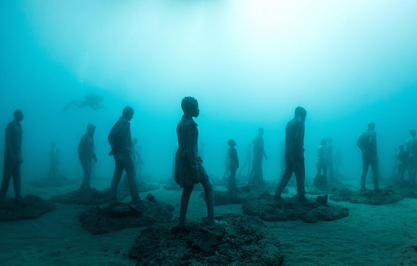 Así se construye un museo submarino