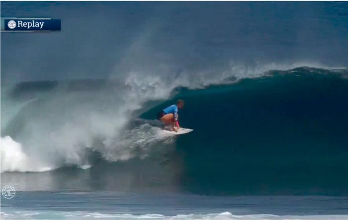 Con esta ola Bethany Hamilton se bajó a Tyler Wright en Fiji