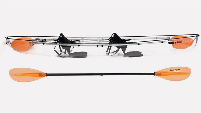 El kayak transparente, una nueva forma de navegar